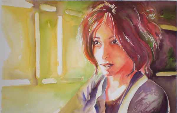 Busy Kitchen Sunny Day - Watercolor