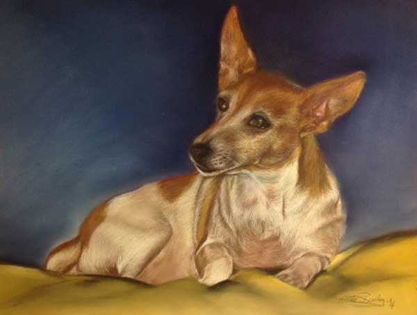 Pet Portrait of Yippee - Pam's Dog