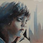 Portrait of Blue Boy in Watercolor