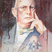 Aleister Crowley in Blood - A Portrait