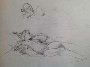 Life Drawing Istha 8th April 2014