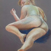 Life Drawing Sofie - Pastels