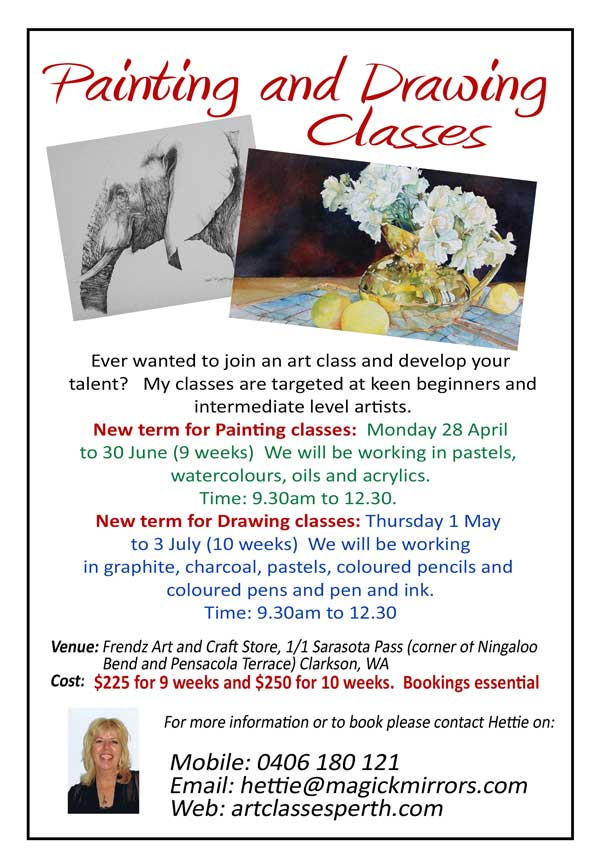 Perth art classes new term begins for Craft classes near me
