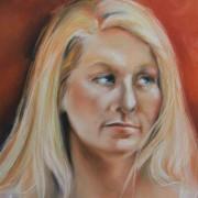 Model Portrait in pastels