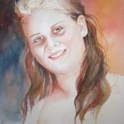 A Watercolor portrait of Tanya