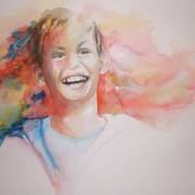 Aleister in Watercolor - a portrait
