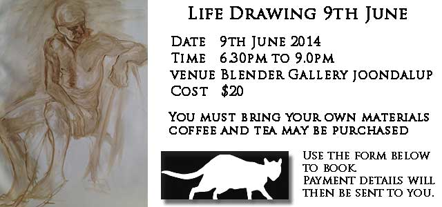 Life Drawing Perth with Hettie Rowley
