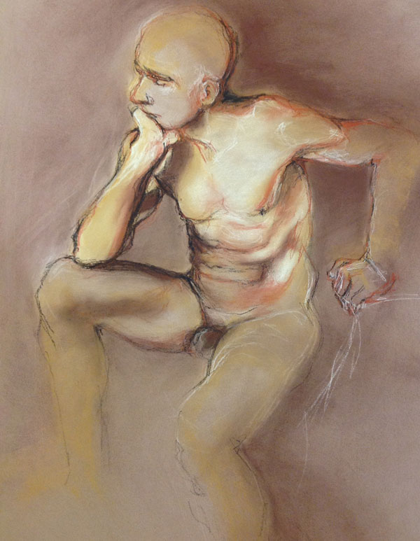 Life Drawing of Model Andy