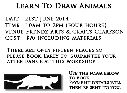 drawing workshop animals with Hettie Rowley