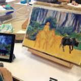 Painting a trail scene from a photograph