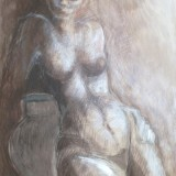 Nude Drawing by Val Shaw