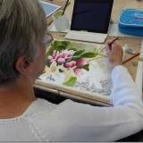 Inga painting flowers