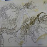 Line drawing for monoprint