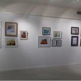 Side wall of gallery