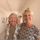 Lovely picture of mom and daughter at the opening of the exhibition