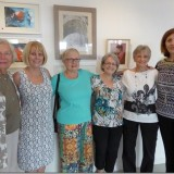 Six of the ten exhibiting artist on opening day