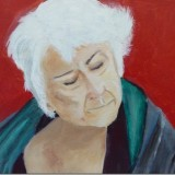 Roy's painting of his wife