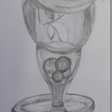 Objects within a glass
