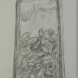 Expressive drawing of objects in a glass