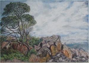 Landscape in pastels by Sjoukje Tarbox