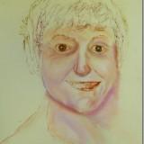 Self portrait in pastel/ work in progress